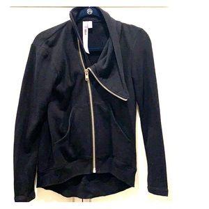 Wilt small black zip-up sweatshirt